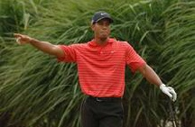Tiger Woods in Portuguese Open Golf Championship