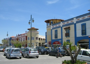 Algarve Shopping in Guia - outdoor car park