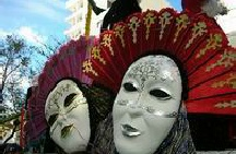 Mardi Gras face masks in Portugal